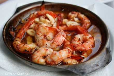 Shrimp Tapas in Garlic Butter