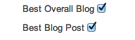 Best Overall Blog and Best Blog Post
